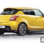 2017 Suzuki Swift rear three quarters rendering