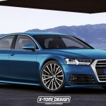 2018 Audi A8 front three quarters rendering