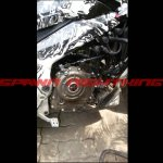 Bajaj Pulsar CS400 engine spy shot