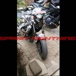 Bajaj Pulsar CS400 engineering mule
