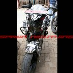 Bajaj Pulsar CS400 front spy shot