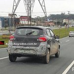Brazilian spec Renault Kwid rear spied