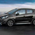 Chevrolet Beat Activ rendered in black color