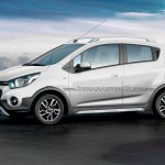 Chevrolet Beat Activ rendered in white color