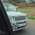 Jeep Renegade front spied testing in India again