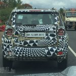 Jeep Renegade rear spied testing in India again