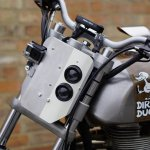 Royal Enfield Dirty Duck headlight