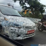 Tata Kite 5 compact sedan front end spotted testing near Pune