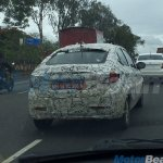 Tata Kite 5 compact sedan rear spotted testing near Pune