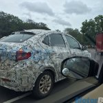 Tata Kite 5 compact sedan rear three quarter spotted testing near Pune