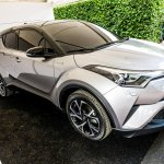 Toyota C-HR front three quarters at 2016 Goodwood Festival of Speed