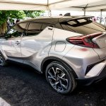 Toyota C-HR rear three quarters at 2016 Goodwood Festival of Speed