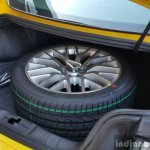 2016 Ford Mustang GT in India boot with spare wheel First Drive Review