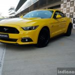 2016 Ford Mustang GT in India front quarter yellow First Drive Review