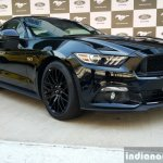 2016 Ford Mustang GT in India front three quarter First Drive Review