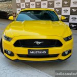 2016 Ford Mustang GT in India front yellow First Drive Review