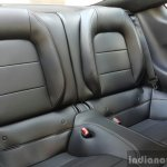 2016 Ford Mustang GT in India rear seats First Drive Review