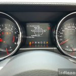 2016 Ford Mustang GT in India wheel instrument cluster First Drive Review