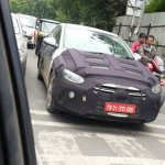 2016 Hyundai Elantra front three quarters spy shot