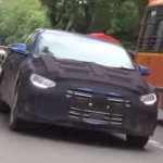 2016 Hyundai Elantra spied testing on Video