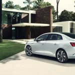 2016 Renault Megane Sedan rear three quarters