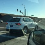 2016 VW Tiguan LWB rear three quarters right side spied