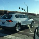 2016 VW Tiguan LWB rear three quarters right side spy shot