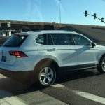 2016 VW Tiguan LWB rear three quarters spied