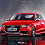 2017 Audi RS3 Sedan front three quarters rendering