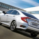 2017 Honda Civic rear three quarter launched in Brazil