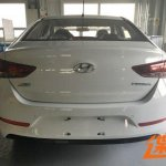 2017 Hyundai Verna rear production leaked