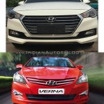 2017 Hyundai Verna vs outgoing model - Old vs New grille
