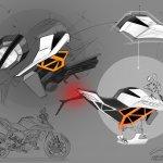 2017 KTM Duke 390 parts sketch