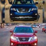 2017 Nissan Pathfinder (facelift) vs. 2013 Nissan Pathfinder front