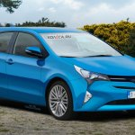 2017 Toyota Auris front three quarters rendering