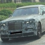 2018 Rolls Royce Phantom front spied in production body