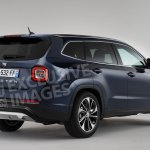 7-seat Dacia Duster (Renault Grand Duster) rear three quarters rendering