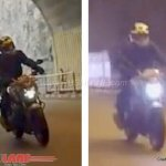 Bajaj Pulsar CS400 headlight spied