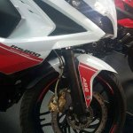 Bajaj Pulsar RS200 White-Red front wheel