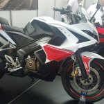 Bajaj Pulsar RS200 White-Red side