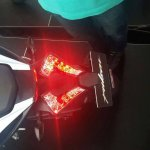 Bajaj Pulsar RS200 White-Red taillight