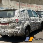 Base and top-end variants of Tata Hexa rear spied together