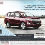 Deliveries of Toyota Innova Crysta petrol from August