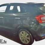Export-spec Maruti Baleno DualJet SHVS rear three quarter spied testing