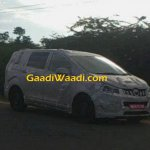 Mahindra MPV front quarter spied testing
