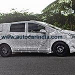 Mahindra MPV side profile spied