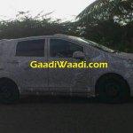 Mahindra MPV side spied testing