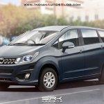 Mahindra's Innova-rivaling MPV front three quarter Rendering