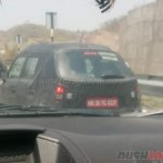 Maruti Ignis test mule rear spied up close