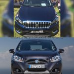 (Maruti) Suzuki S-Cross facelift vs Older model front Old vs New